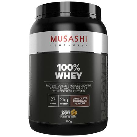 Musashi 100% Whey Chocolate Milkshake 900g
