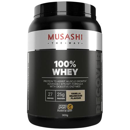 Musashi 100% Whey Vanilla Milkshake 900g