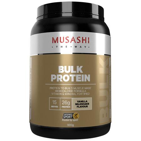 Musashi Bulk Protein Vanilla Milkshake 900g