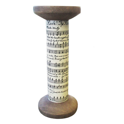 Musical Scroll Candle Holder