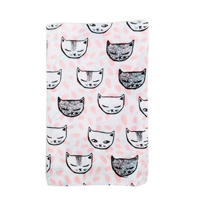 Muslin Baby Swaddle - Cats Galore