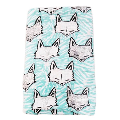 Muslin Baby Swaddle - Fox Galore