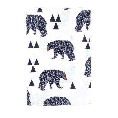 Muslin Baby Swaddle  - Geo Bear