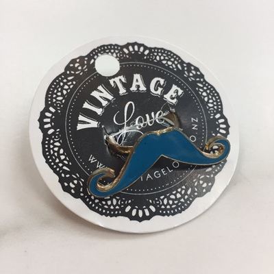 Mustache Ring - Blue