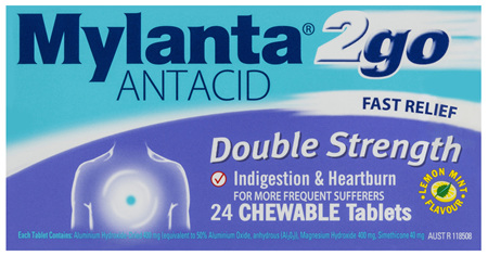 Mylanta 2go Antacid 24 Tablets