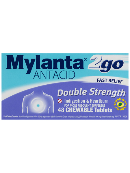Mylanta 2go Antacid 48 Tablets