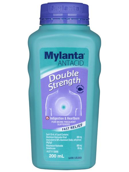 Mylanta Antacid Double Strength Liquid 200mL