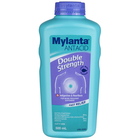 Mylanta Antacid Double Strength Liquid 500mL
