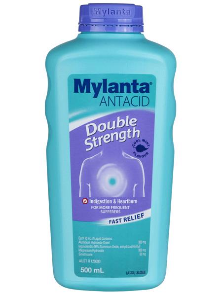 Mylanta Antacid Double Strength Liquid 500mL