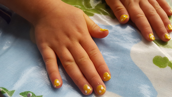 Nail art at Waikanae Easter Market