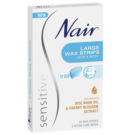 NAIR Sensitive Wax Strips Large 20pk