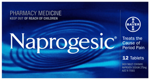 Naprogesic Period Pain Tablets 12 Pack