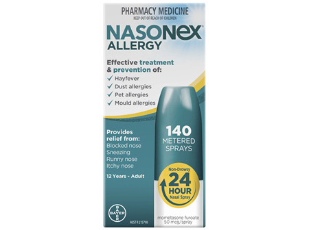 Nasonex Allergy Non-Drowsy 24 Hour Nasal Spray 140 sprays