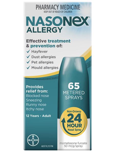 Nasonex Allergy Non-Drowsy 24 Hour Nasal Spray 65 sprays