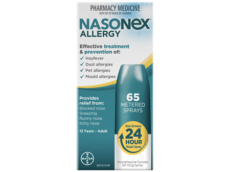 Nasonex Allergy Non-Drowsy 24 Hour Nasal Spray 65 sprays