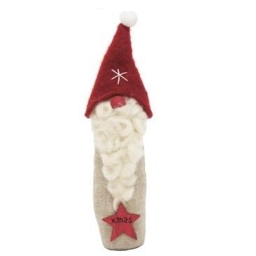 Natalii Fabric Santa Deco