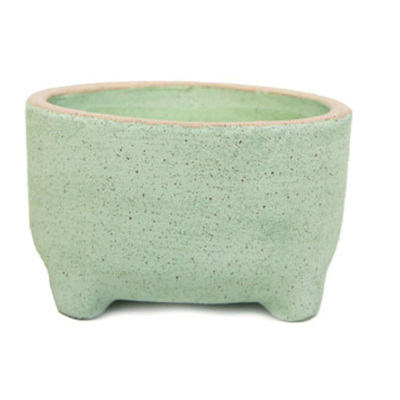Natia Bowl with Feet - Green Sand
