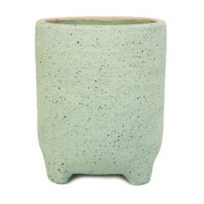 Natia Planter with Feet - Green Sand