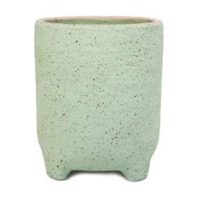 Natia Planter with Feet - Green Sand