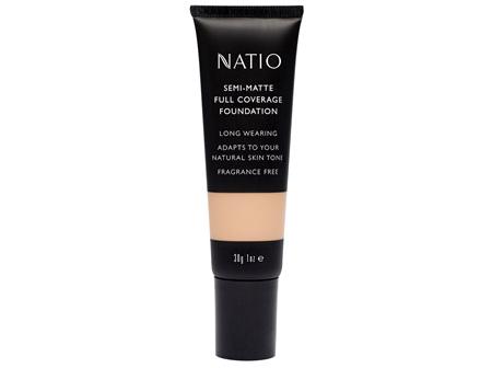 Natio Semi-Matte Full Coverage Foundation Cashew