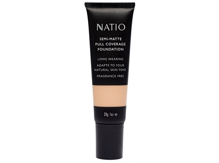 Natio Semi-Matte Full Coverage Foundation Hazelnut