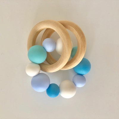 Natural Beech Wood & Silicone Teether