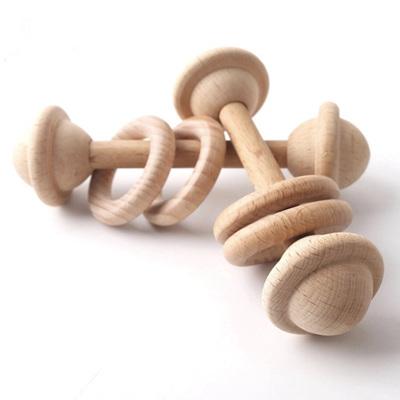 Natural Beech Wood Teething Rattle