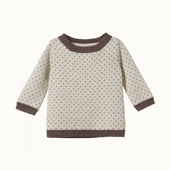 Nature Baby Billy Jumper Truffle/Oatmeal