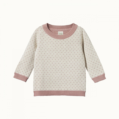 Nature Baby Billy Jumper Tulip/Oatmeal Marle