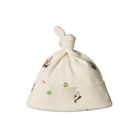 Nature Baby Cotton Knotted Beanie Bunny Garden 0-6m