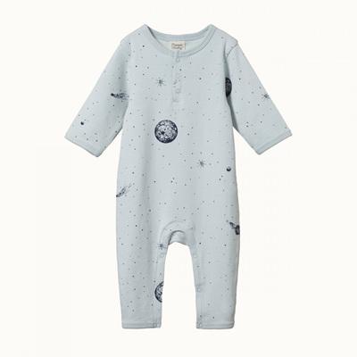 Nature Baby Henley Pyjama Suit Galaxy Print
