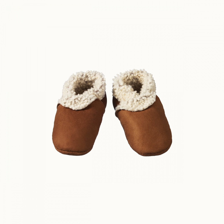 Nature Baby Lambskin Booties Cinnamon