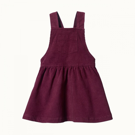 Nature Baby Pinafore Cord Dress Elderberry