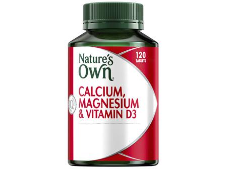 Nature's Own Calcium, Magnesium & Vitamin D3 120 Tablets