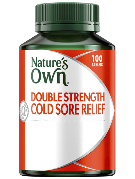 Nature's Own Double Strength Cold Sore Relief L-Lysine 1000mg