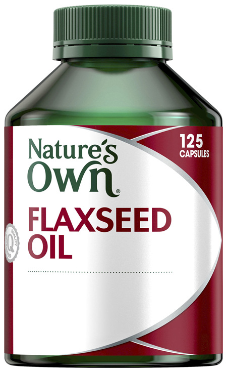 Nature's Own Flaxseed Oil Cold Pressed 1000mg 125 Capsules