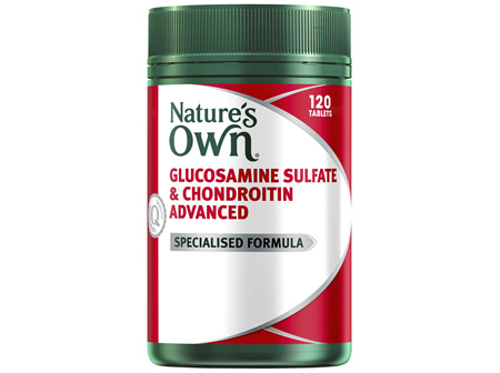 Nature's Own Glucosamine Sulfate & Chondroitin Advanced Tablets 120