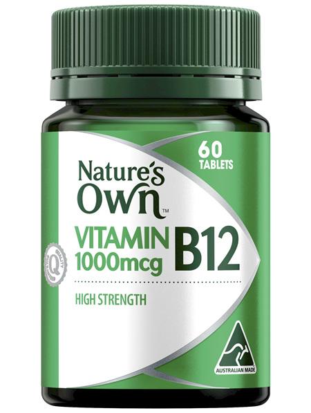 Nature's Own High Strength Vitamin B12 1000mcg 60 tablets