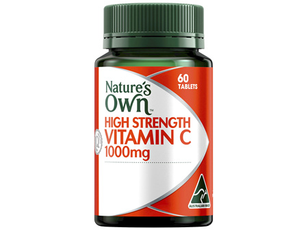 Nature's Own High Strength Vitamin C 1000mg Chewable Natural Orange Flavour