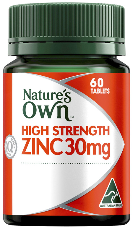 Nature's Own High Strength Zinc 30mg