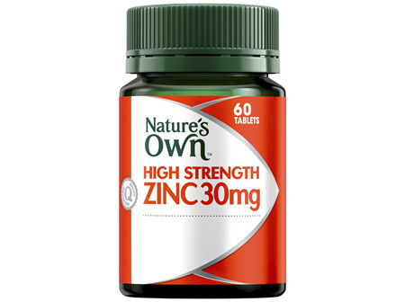 Nature's Own High Strength Zinc 30mg 60 Tablets