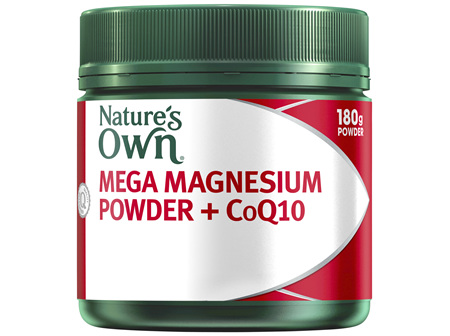Nature's Own Mega Magnesium Powder + CoQ10