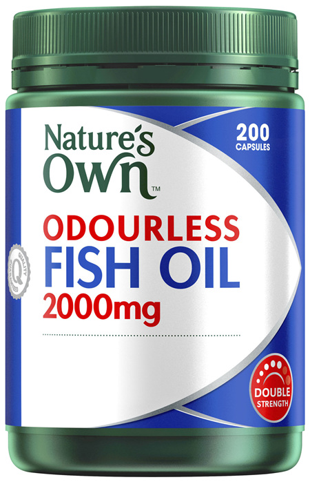 Nature's Own Odourless Fish Oil 2000mg 240 Capsules