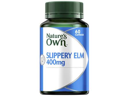 Nature's Own Slippery Elm 400mg 60 Capsules