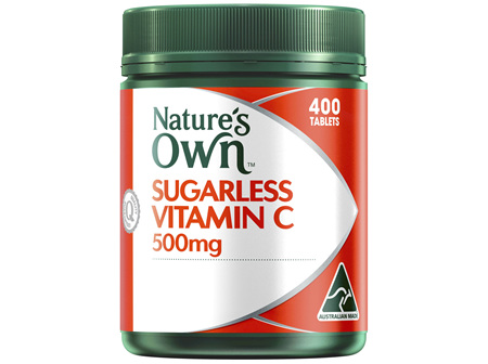 Nature's Own Sugarless Vitamin C 500mg Chewable Natural Orange Flavour