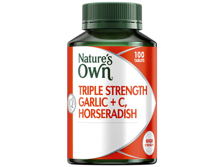 Nature's Own Triple Strength Garlic, Horseradish + C, Horseradish