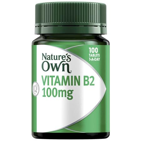 Nature's Own Vitamin B2 100mg