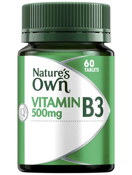 Nature's Own Vitamin B3 500mg