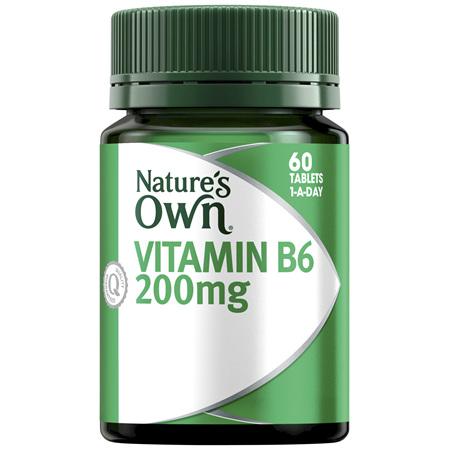 Nature's Own Vitamin B6 200mg