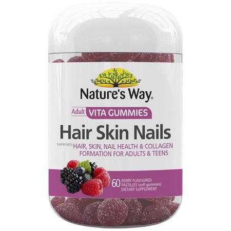 Nature's Way Adult Vita Gummies Hair Skin Nails 60